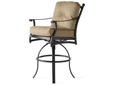 Mallin Seville Cushion Cast Aluminum Swivel Bar Stool