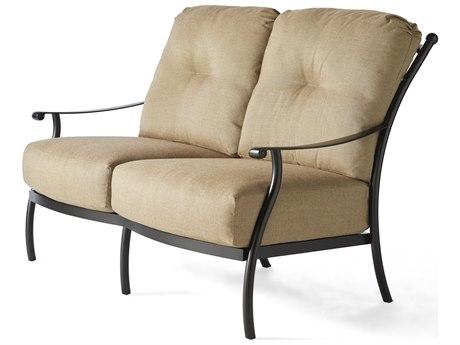 Mallin Seville Cushion Cast Aluminum Loveseat