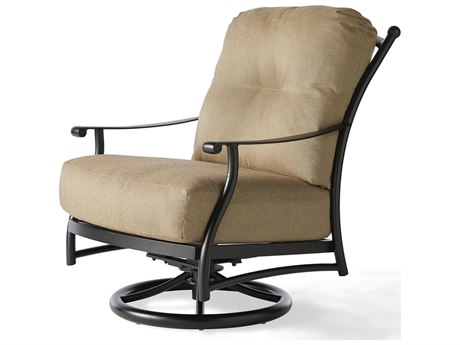 Mallin Seville Cushion Cast Aluminum Swivel Rocker Lounge Chair