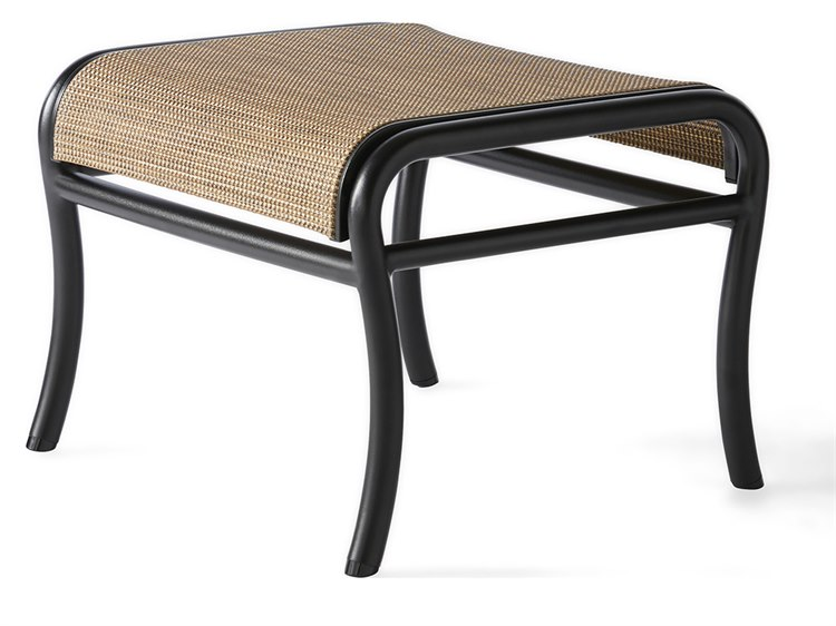 Mallin Scarsdale Sling Aluminum Ottoman PatioLiving