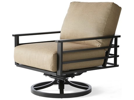 Mallin Sarasota Aluminum Swivel Rocker Lounge Chair