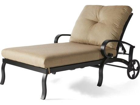 Mallin Salisbury Cast Aluminum Chaise Lounge and a Half