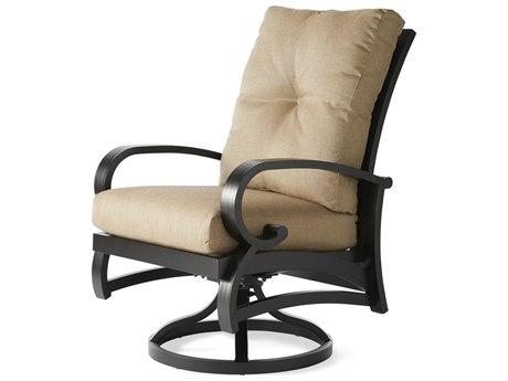 Mallin Salisbury Cast Aluminum Swivel Rocker Dining Arm Chair