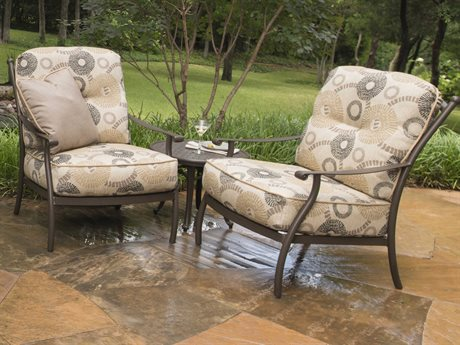 Mallin Seville Cushion Cast Aluminum Lounge Set