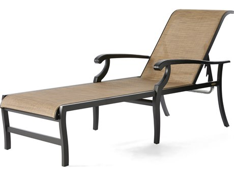 Mallin Turin Sling Cast Aluminum Chaise Lounge