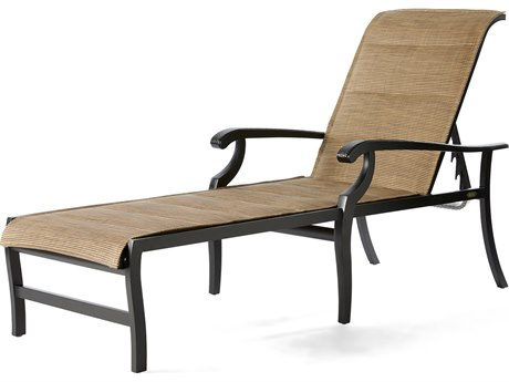 Mallin Turin Padded Sling Cast Aluminum Chaise Lounge