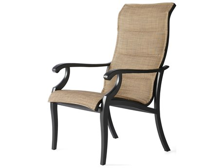 Mallin Turin Padded Sling Cast Aluminum Dining Chair