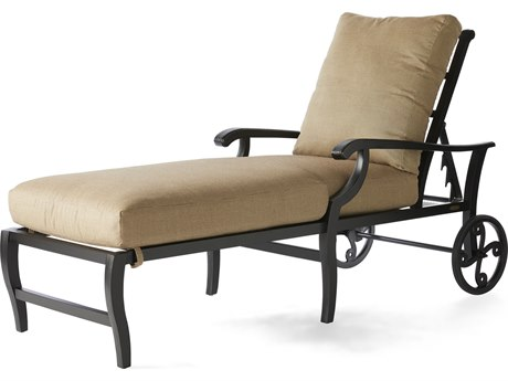 Mallin Turin Cushion Cast Aluminum Chaise Lounge