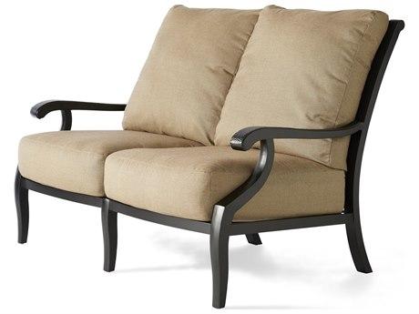 Mallin Turin Cushion Cast Aluminum Loveseat
