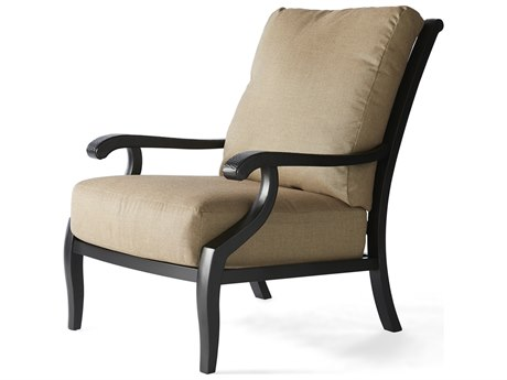 Mallin Turin Cushion Cast Aluminum Lounge Chair