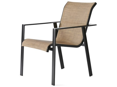 Mallin Tayler Sling Aluminum Dining Arm Chair