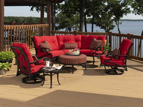 Mallin Volare Cushion Cast Aluminum Lounge Set