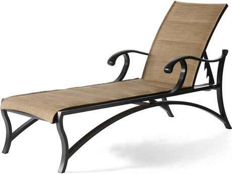 Mallin Volare Padded Sling Cast Aluminum Chaise Lounge