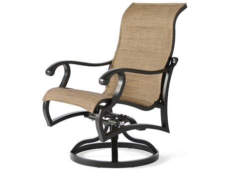 Mallin Volane Padded Sling Cast Aluminum Dining Chair