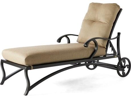 Mallin Volare Cushion Cast Aluminum Chaise Lounge