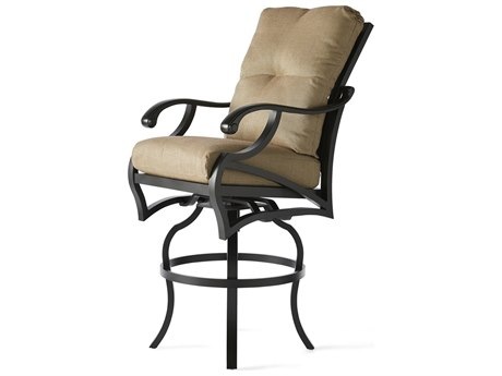 Mallin Volare Cushion Cast Aluminum Bar Stool
