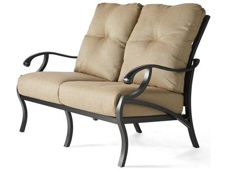 Mallin Volare Cushion Cast Aluminum Loveseat