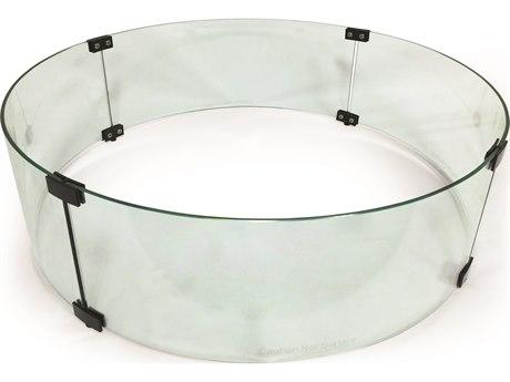 Mallin Firepit Accessories 23'' Wide Round Glass Guard