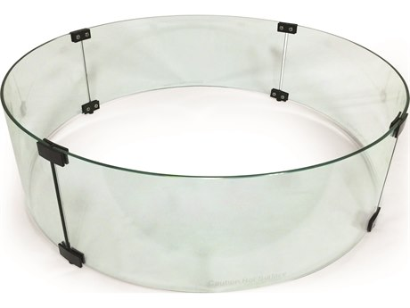 Mallin Firepit Accessories 28'' Wide Round Glass Guard