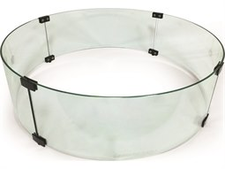 Firepit Accessories 28'' Wide Round Glass Guard