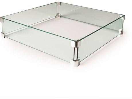 Mallin Firepit Accessories 25'' Wide Square Glass Guard