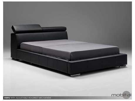 Mobital Vertu Dark Gray Leather King Bed
