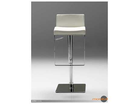 Mobital Astro White Leatherette Bar Stool