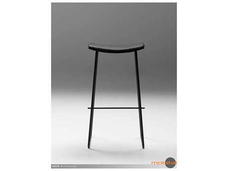 Mobital Lucia Black Leather Bar Stool