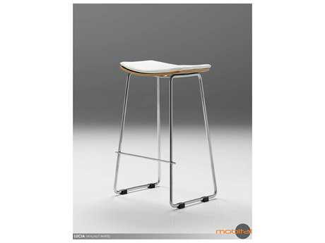 Mobital Lucia Walnut & White Bar Stool