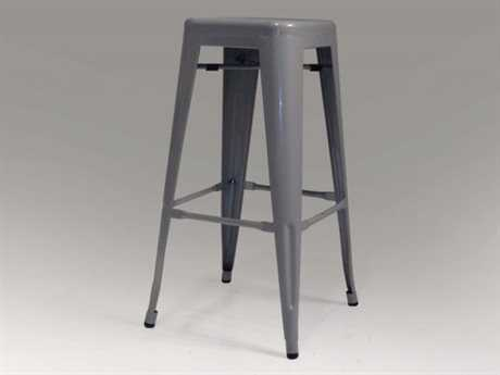 Mobital Metallica Set of Four Grey Metal Bar Stools