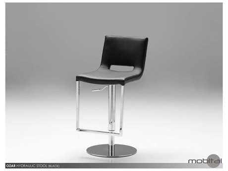 Mobital Ozar Black Leatherette Bar Stool