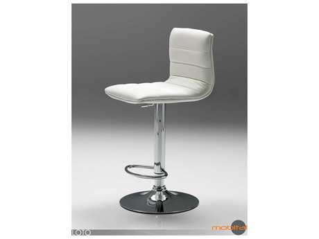 Mobital Pero Pure White Leatherette Bar Stool