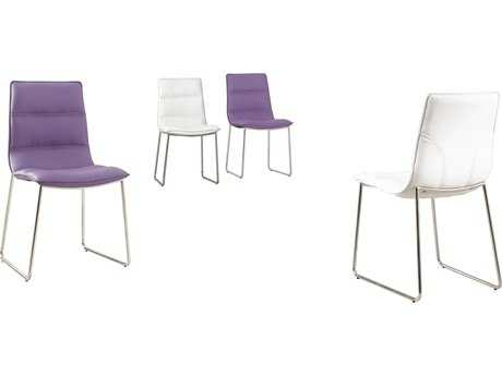 Mobital Mowat White Leatherette Dining Chair