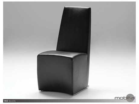 Mobital Tao Set of Two Black Leatherette Dining Chairs
