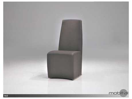 Mobital Tao Set of Two Grey Leatherette Dining Chairs
