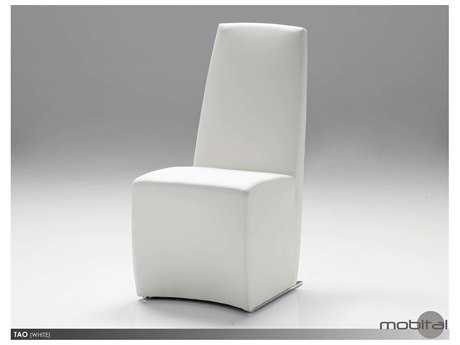 Mobital Tao Set of Two White Leatherette Dining Chairs