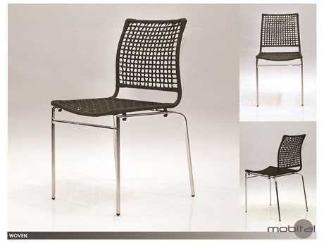 Mobital Woven Set of Four Black Rattan Dining Chairs