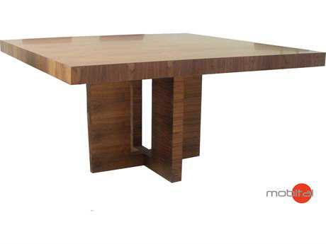 Mobital Samsara Natural Walnut 59'' Square Dining Table