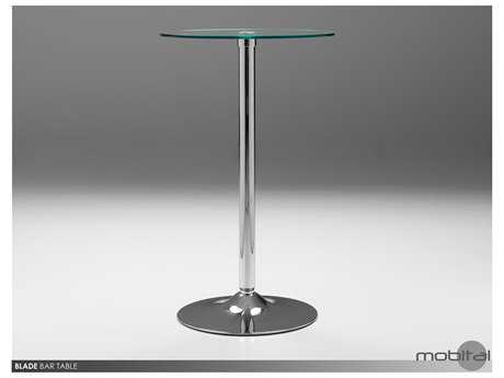 Mobital Blade Stainless Steel 24'' Square Bar Table