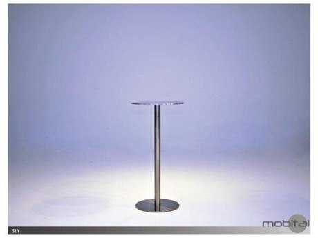 Mobital Rondo Stainless Steel 21'' Round Dining Table