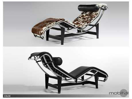 Mobital Chloe Black Leather Chaise Chair