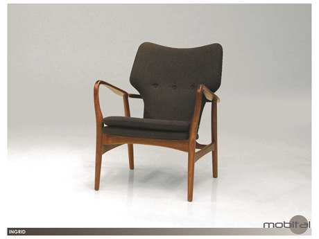 Mobital Ingrid Ash Walnut Lounge Chair