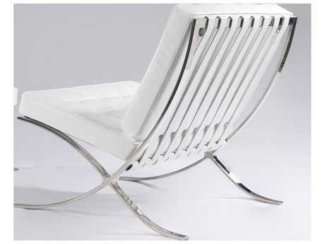Mobital Metropolis White Leather Chair