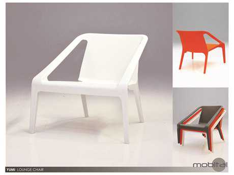 Mobital Yumi Set of Four Orange Lounge Chairs