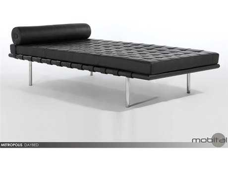 Mobital Metropolis Black Leather Day Bed
