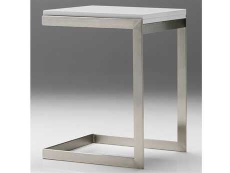 Mobital Faze 35 x 18 Rectangular High Gloss White Extension End Table