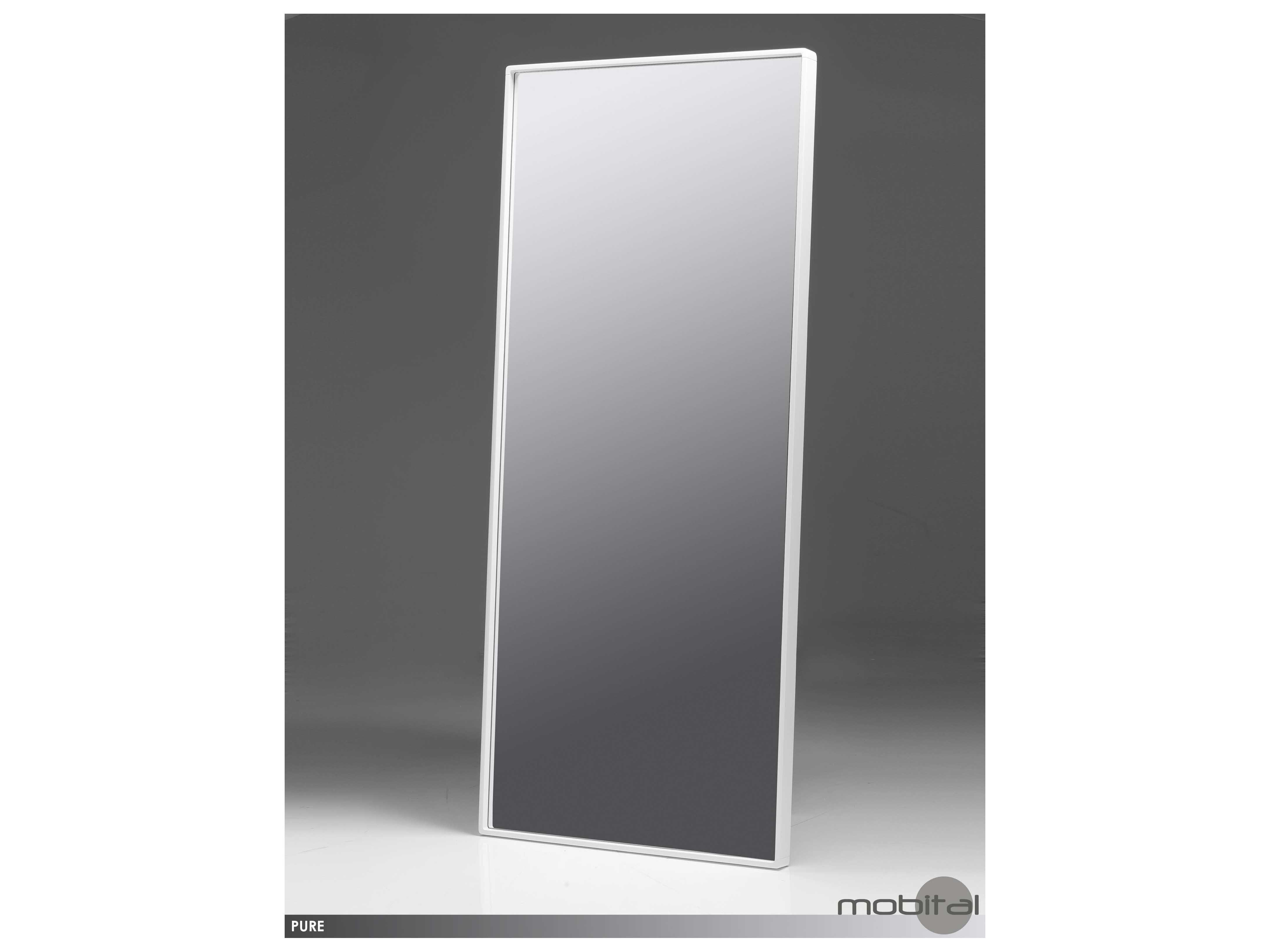 Mobital pure white 36 x 84 standing mirror mbmispurewhitb for Mirror 84 x 36