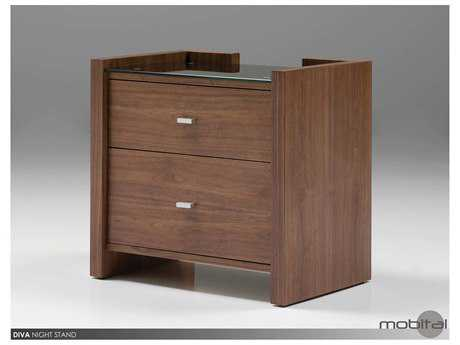 Mobital Diva Natural Walnut Night Table