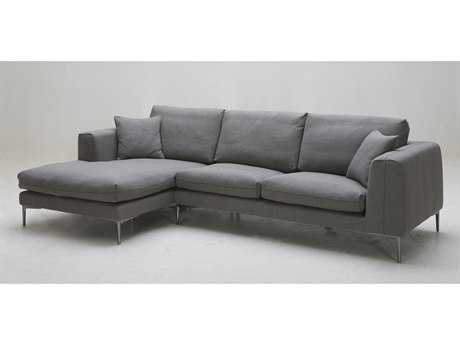 Mobital Dusk Dark Grey Fabric Left Sectional Chaise