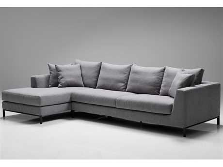 Mobital Hunter Grey Left-Facing Sectional Sofa
